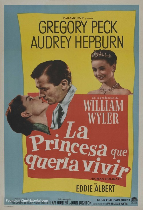 Roman Holiday - Argentinian Movie Poster
