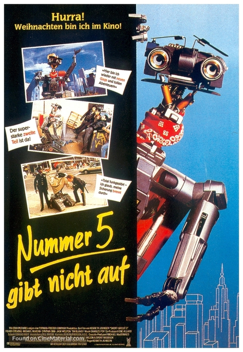 Short Circuit 2 - German Movie Poster