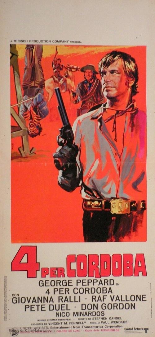 Cannon for Cordoba - Italian Movie Poster