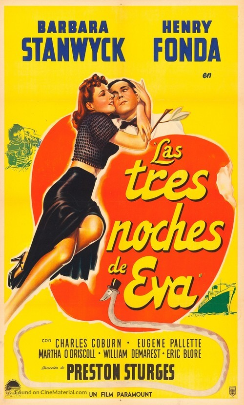The Lady Eve - Argentinian Movie Poster