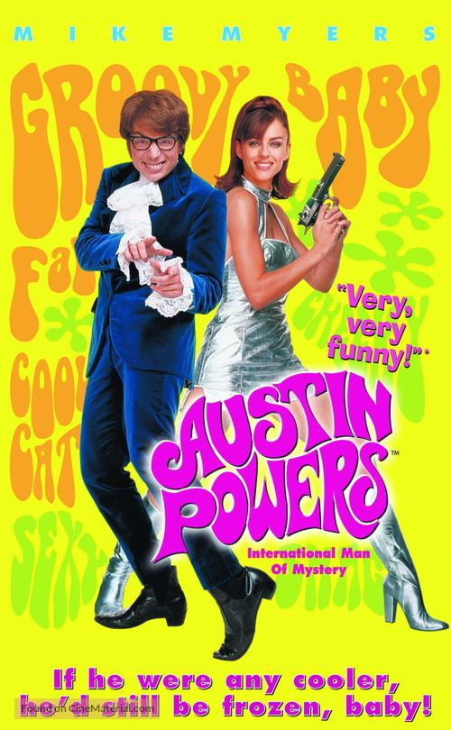 Austin Powers: International Man of Mystery - VHS movie cover