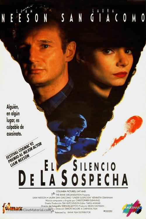 Under Suspicion - Spanish Movie Poster