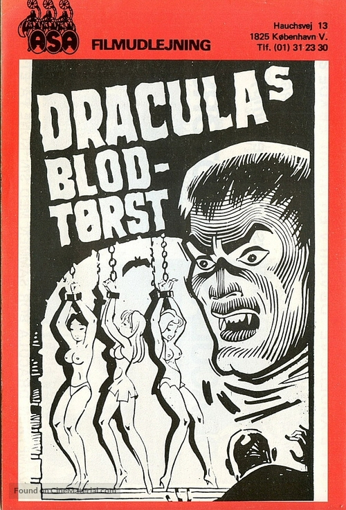Blood of Dracula's Castle - Danish DVD movie cover