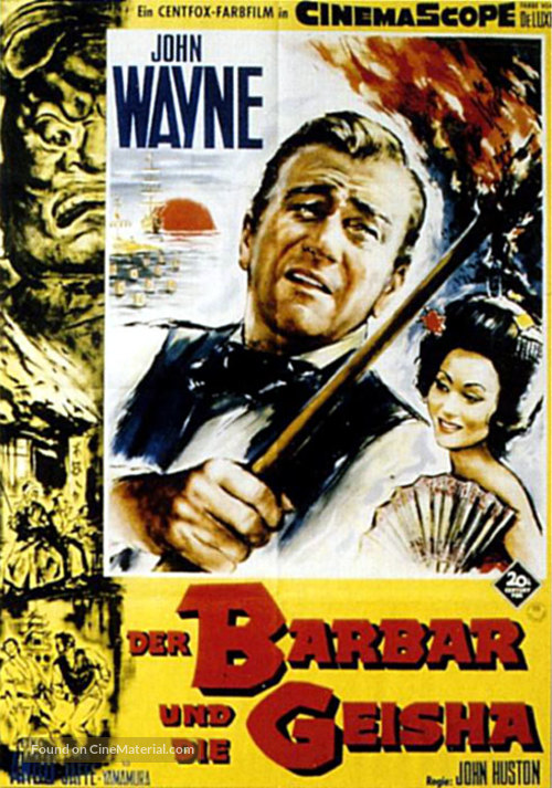 The Barbarian and the Geisha - German Movie Poster