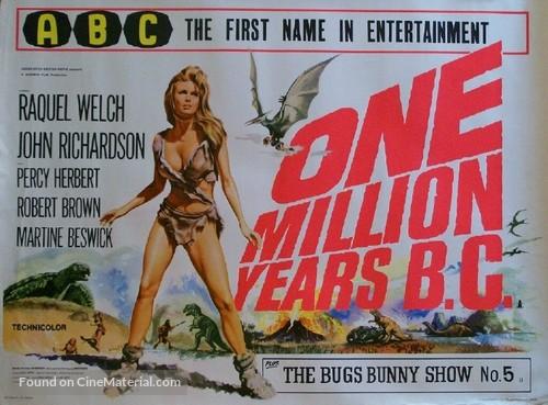 One Million Years B.C. - British Movie Poster