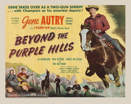 Beyond the Purple Hills - Movie Poster