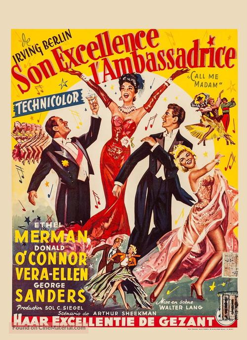 Call Me Madam - Belgian Movie Poster