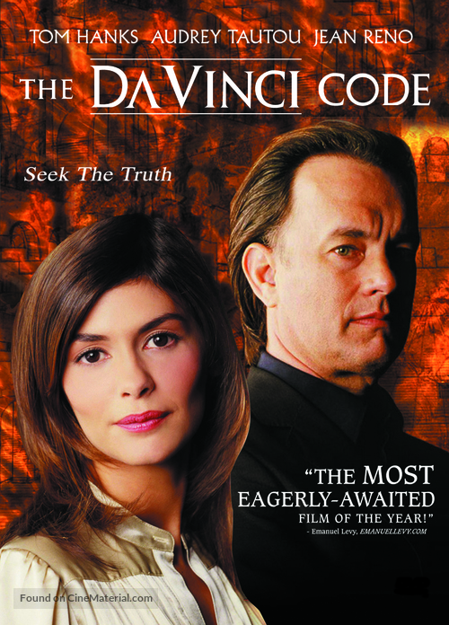 The Da Vinci Code 2006 Malaysian Dvd Movie Cover