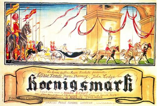 Königsmark - French Movie Poster