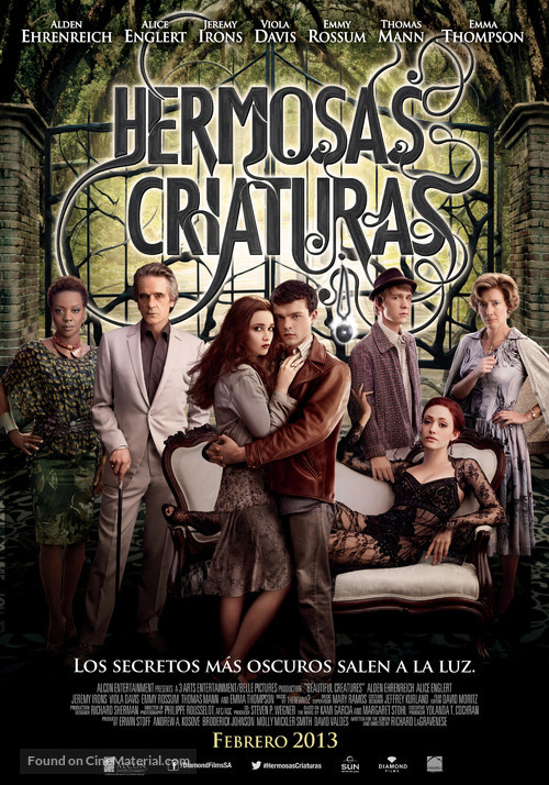 Beautiful Creatures - Argentinian Movie Poster