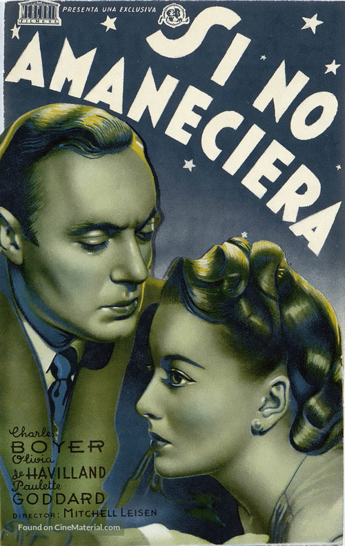 Hold Back the Dawn - Spanish Movie Poster
