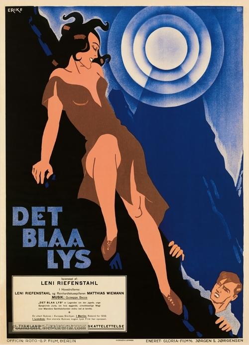 Das blaue Licht - Danish Movie Poster