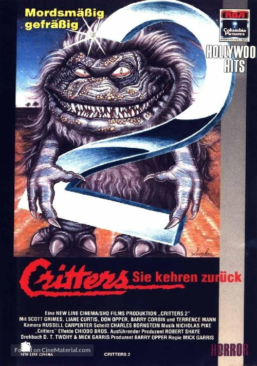 Critters 2: The Main Course - German VHS movie cover