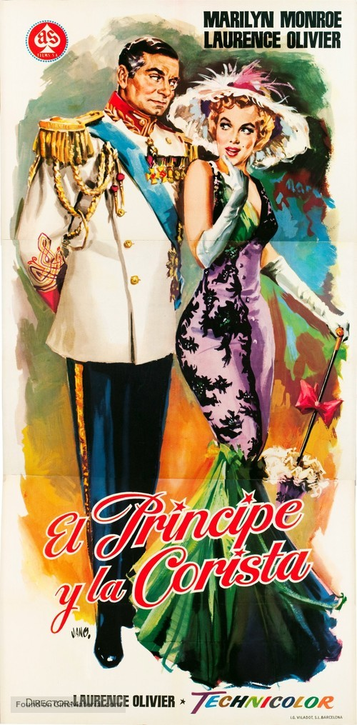 The Prince and the Showgirl - Spanish Movie Poster