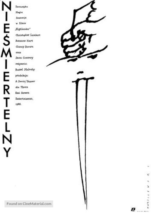 Highlander - Polish Movie Poster