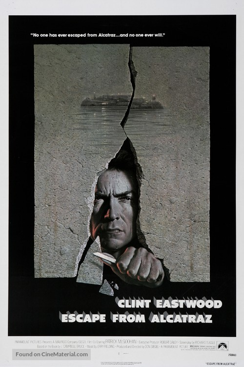 Escape From Alcatraz - Movie Poster