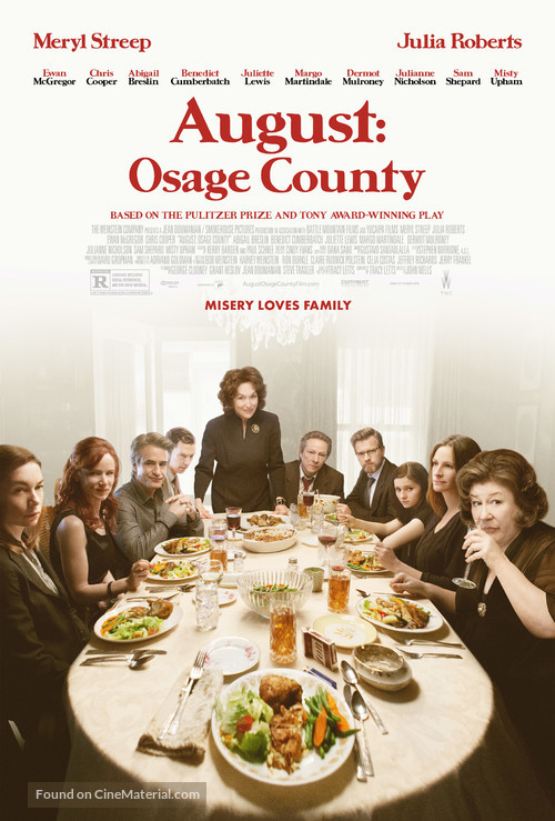 august osage county review A review of the film august: osage county there are many films that can make you feel as if you've been assaulted by life, by pain, by damage and abuse, by hurt.