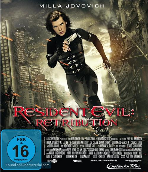 Resident Evil Retribution 2012 German Blu Ray Movie Cover