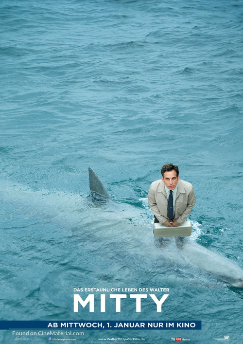 The Secret Life of Walter Mitty - German Movie Poster
