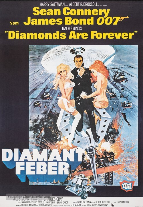 Diamonds Are Forever - Swedish Movie Poster