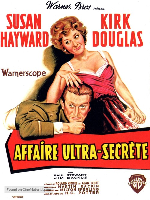 Top Secret Affair - French Movie Poster