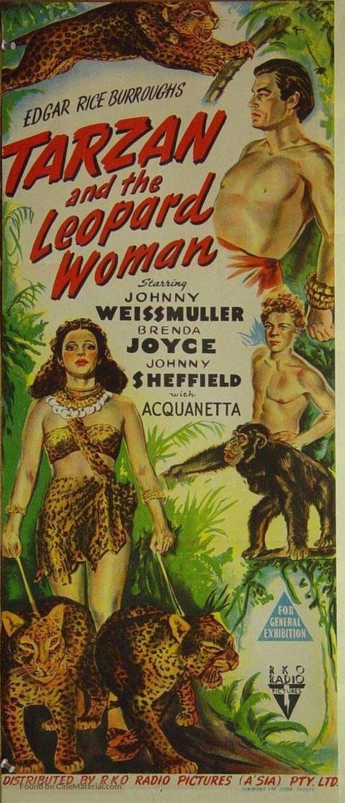 Tarzan and the Leopard Woman - Australian Movie Poster