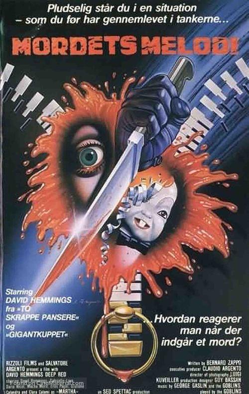 Profondo rosso - Danish Movie Poster