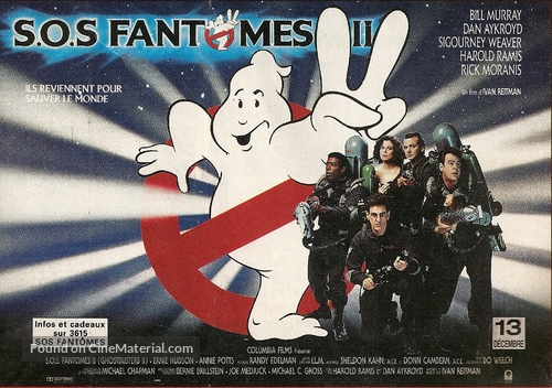 Ghostbusters II - French Movie Poster