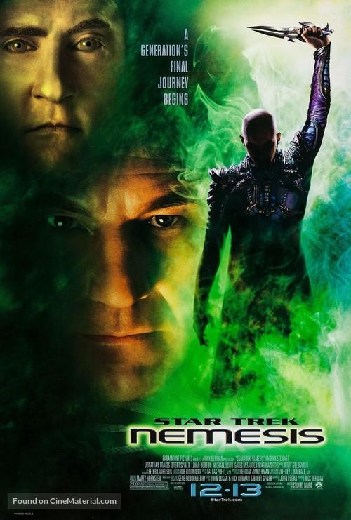 Star Trek: Nemesis - Advance movie poster
