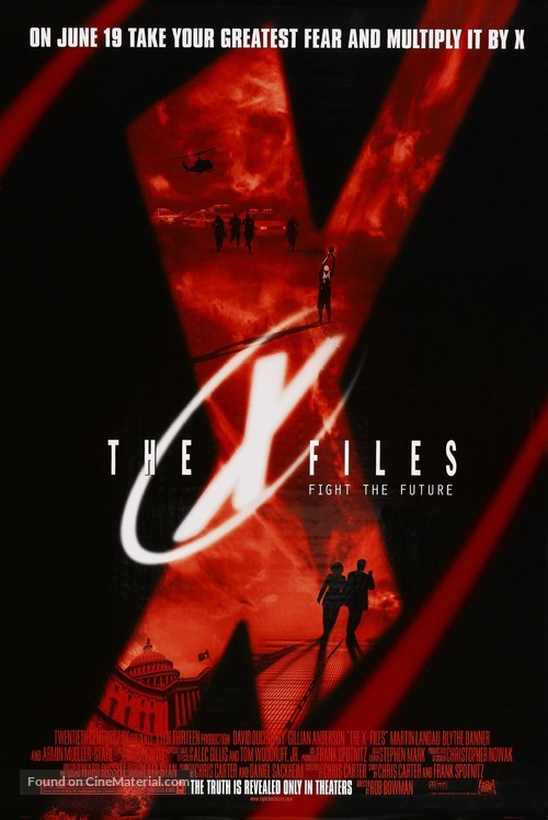 The X Files - Advance movie poster