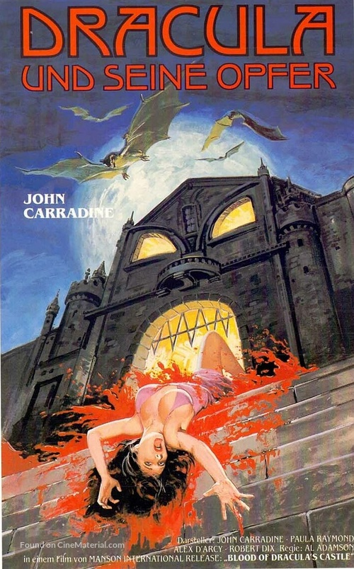 Blood of Dracula's Castle - German VHS movie cover