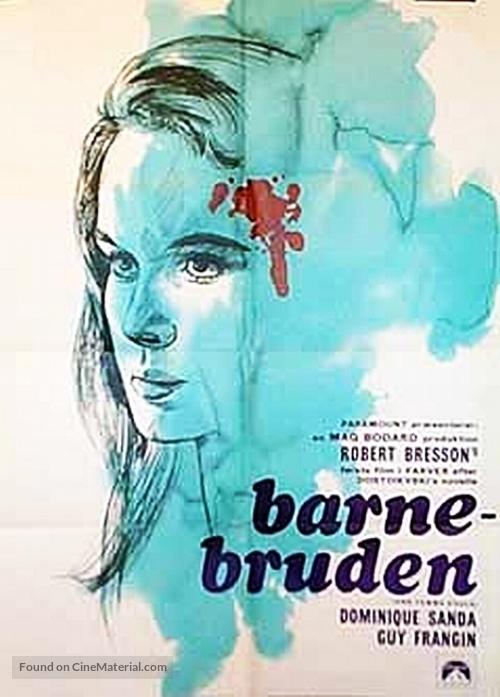 Une femme douce - Danish Movie Poster
