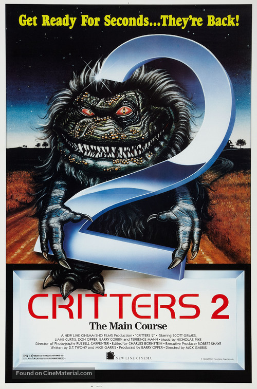 Critters 2: The Main Course - Theatrical movie poster