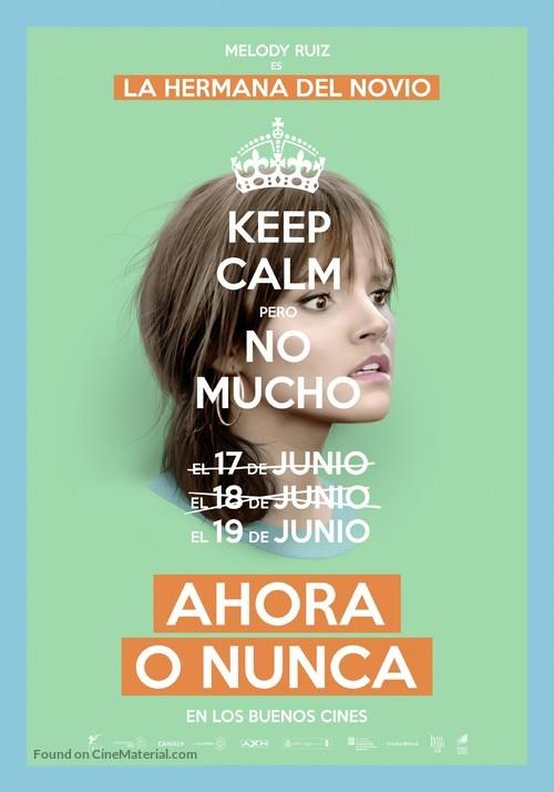 Ahora o nunca - Spanish Movie Poster