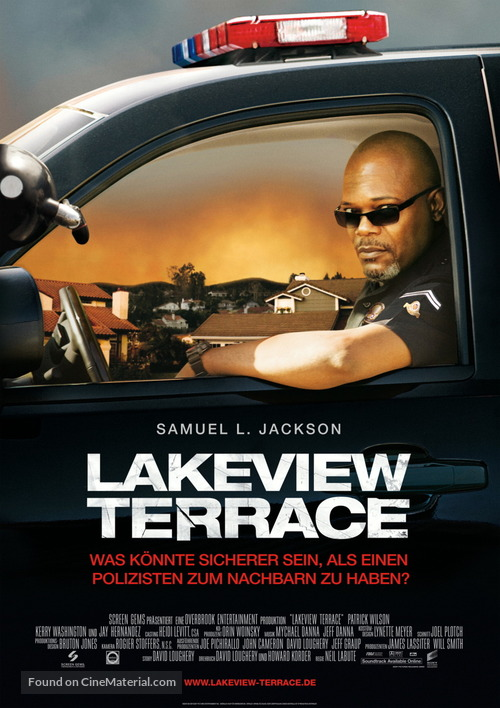Lakeview Terrace - German Movie Poster