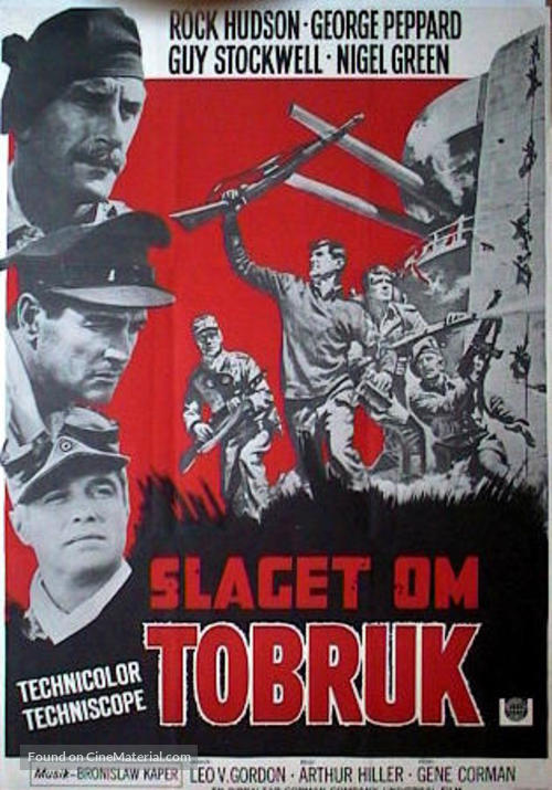 Tobruk - Swedish Movie Poster
