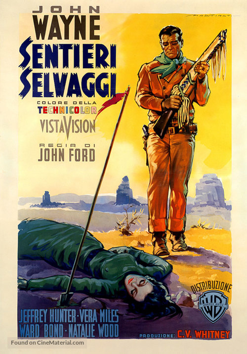 The Searchers - Italian Movie Poster