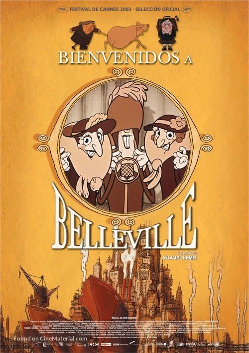 Les triplettes de Belleville - Spanish Movie Poster