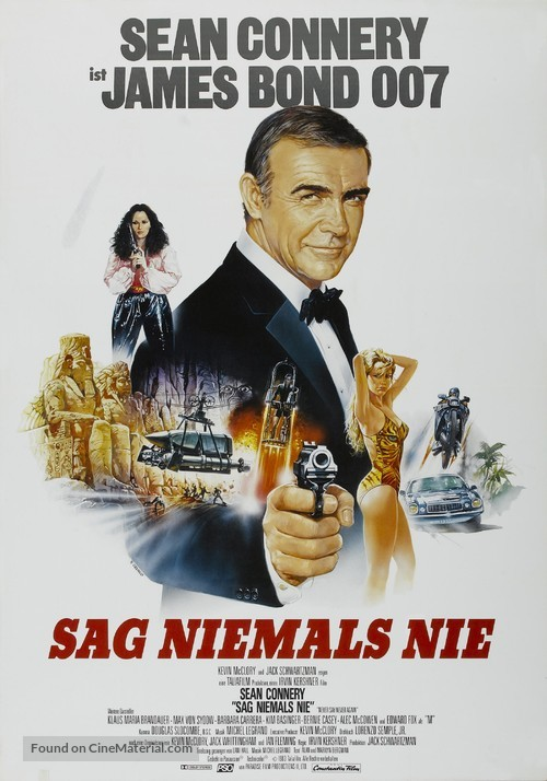 Never Say Never Again - German Movie Poster