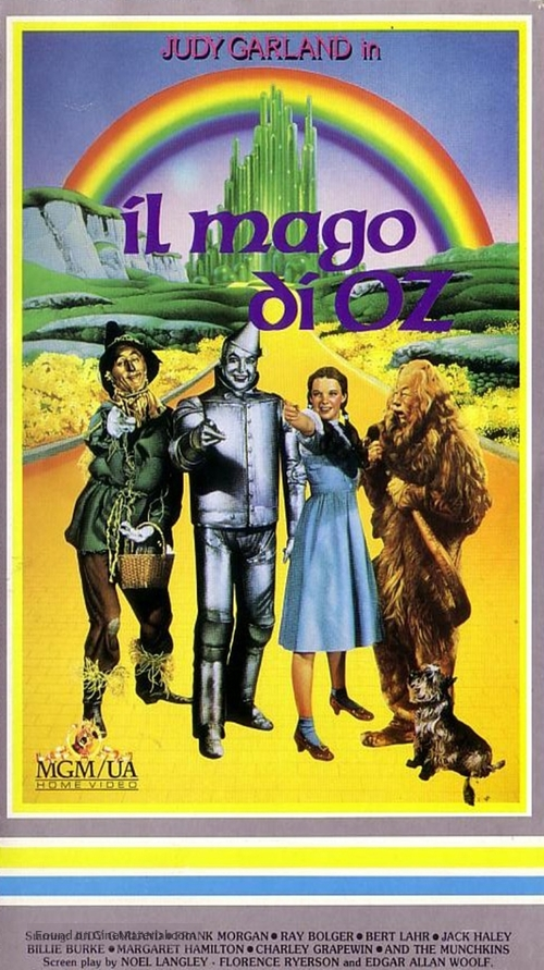 The Wizard of Oz - Italian VHS movie cover