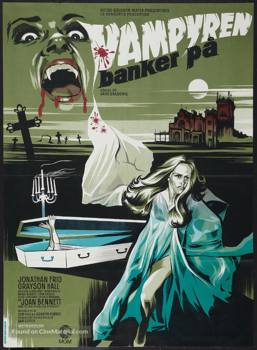 House of Dark Shadows - Danish Movie Poster