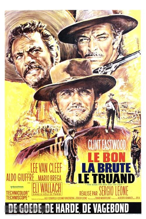 Il buono, il brutto, il cattivo - Belgian Movie Poster