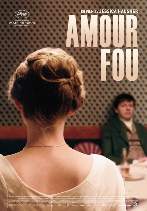 Amour fou - Swedish Movie Poster