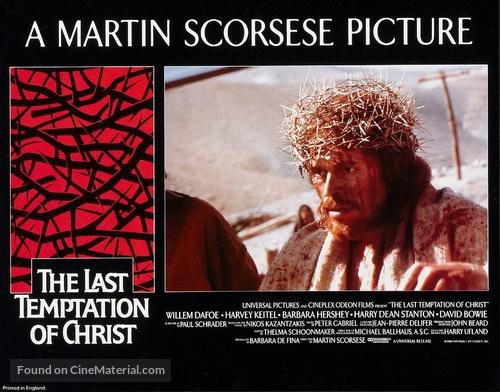 The Last Temptation of Christ - British Movie Poster