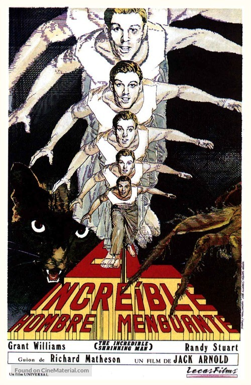 The Incredible Shrinking Man - Spanish Movie Poster