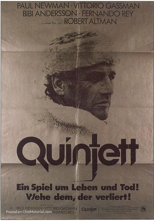 Quintet - German Movie Poster