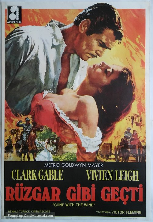 Gone with the Wind - Turkish Movie Poster