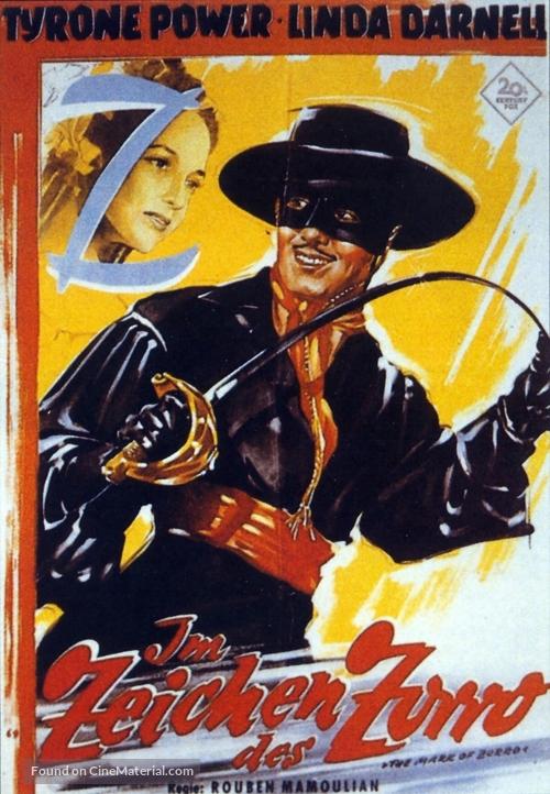 The Mark of Zorro - German Movie Poster
