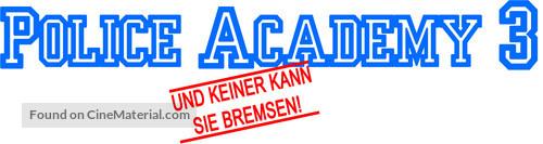 Police Academy 3: Back in Training - German Logo
