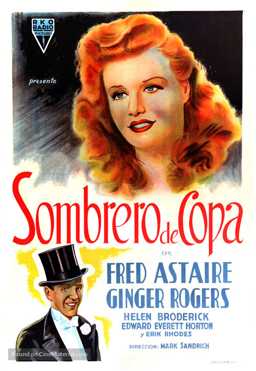 Top Hat - Argentinian Movie Poster